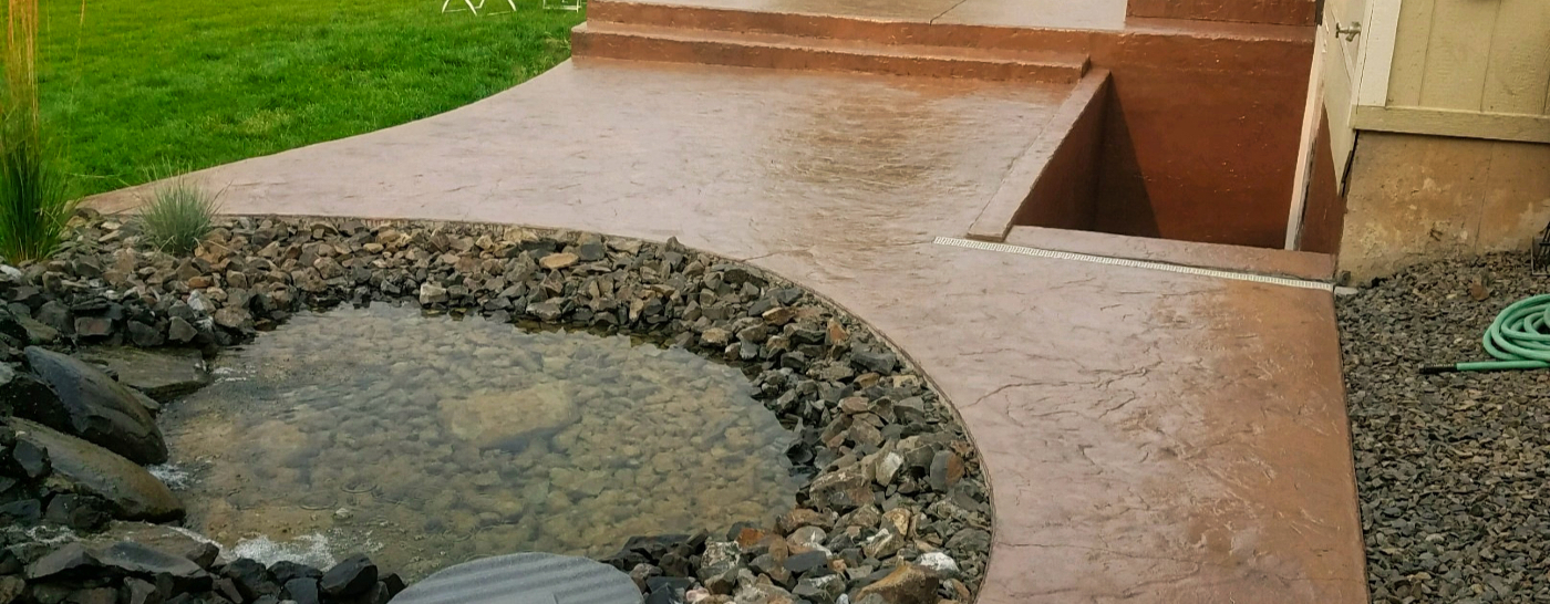 Belgium Slate Stamp and Water Feature