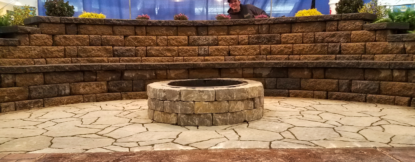 Block Wall and Fire Pit