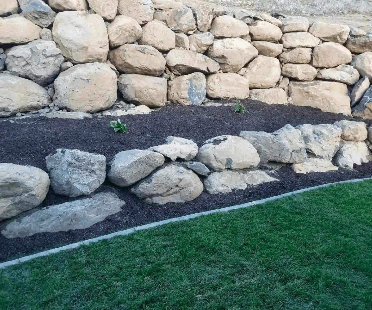 Boulder Wall Install