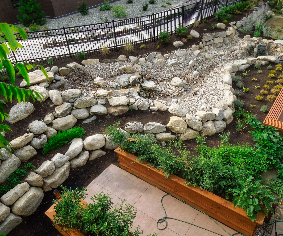 Complete Landscape Install with Boulders