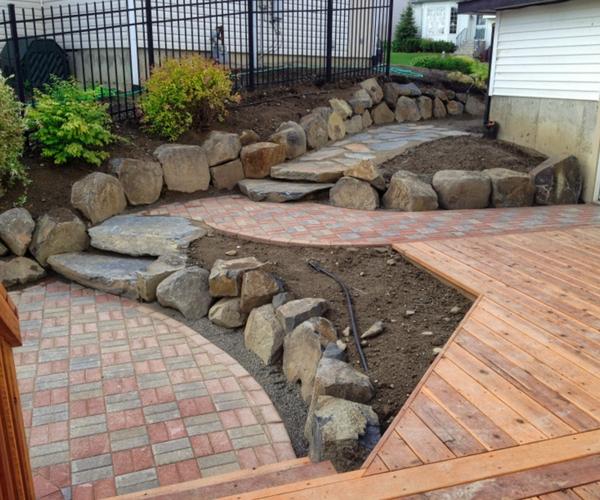Boulders and Rock Steps