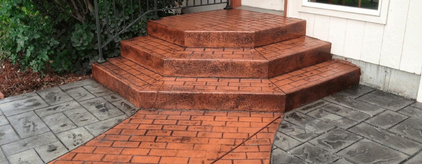 Brick Stamped Stairs