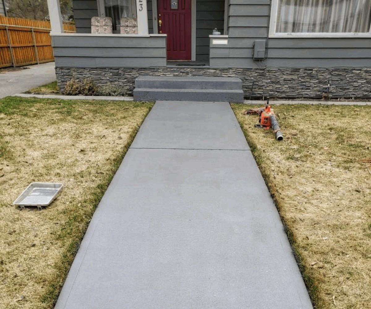 Broom Finished Walkway