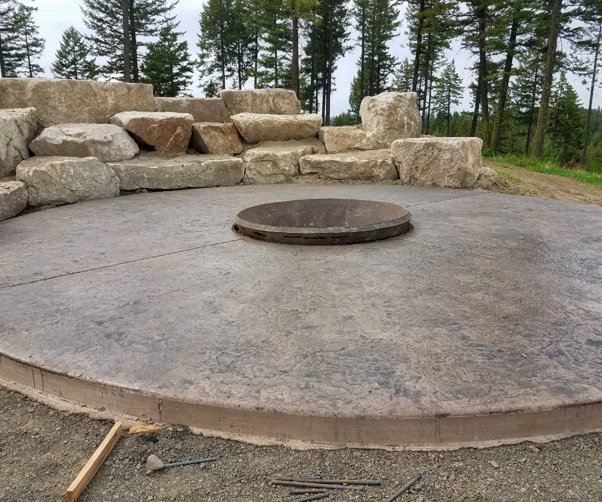 Boulders and Fire Pit